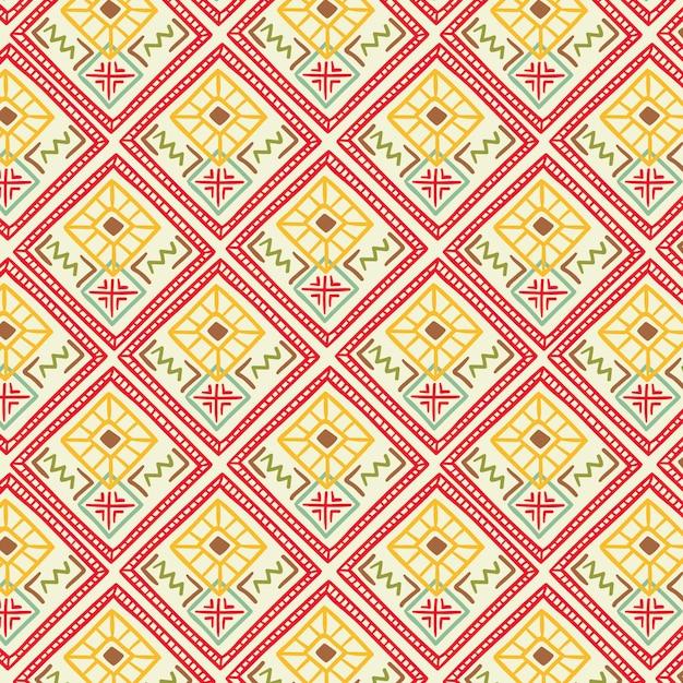 Songket-patroon met decoratieve vormen Gratis Vector