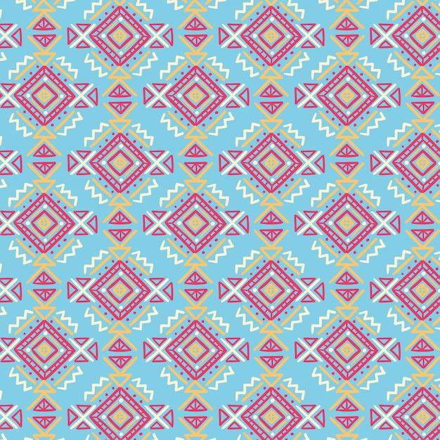 Songket-patroon met getekende vormen Gratis Vector