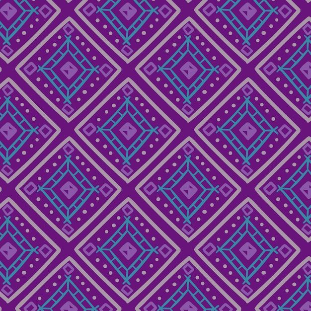 Songket-patroon met koudgekleurde vormen Gratis Vector