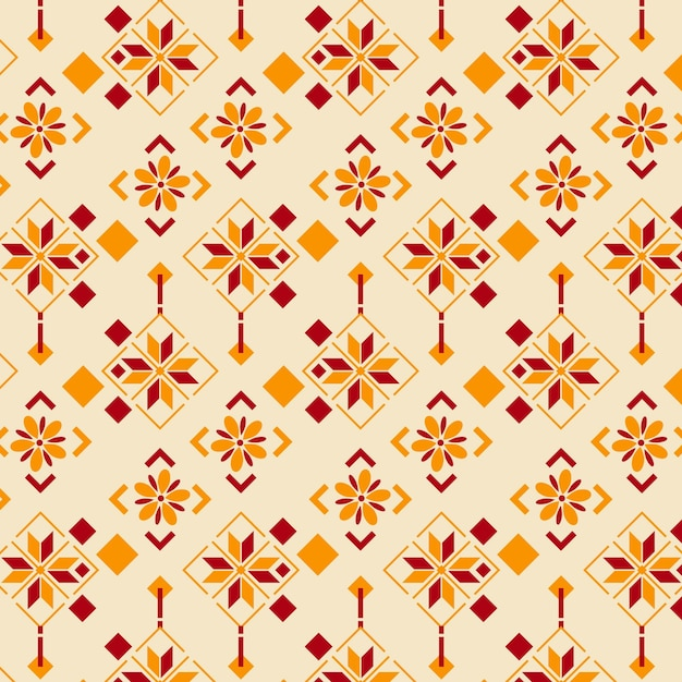 Songket patroon Gratis Vector