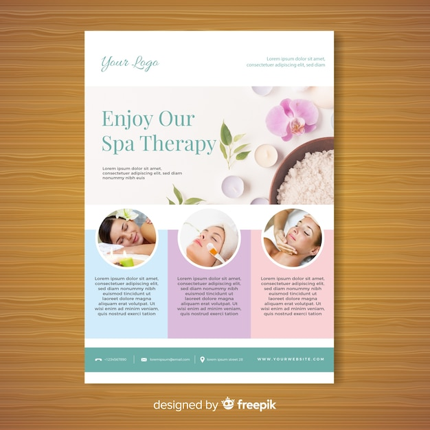 Spa brochure sjabloon Gratis Vector