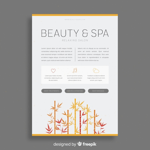 Spa-brochure Gratis Vector
