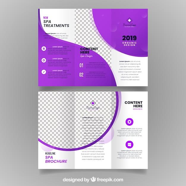 Spa driebladige brochure Gratis Vector
