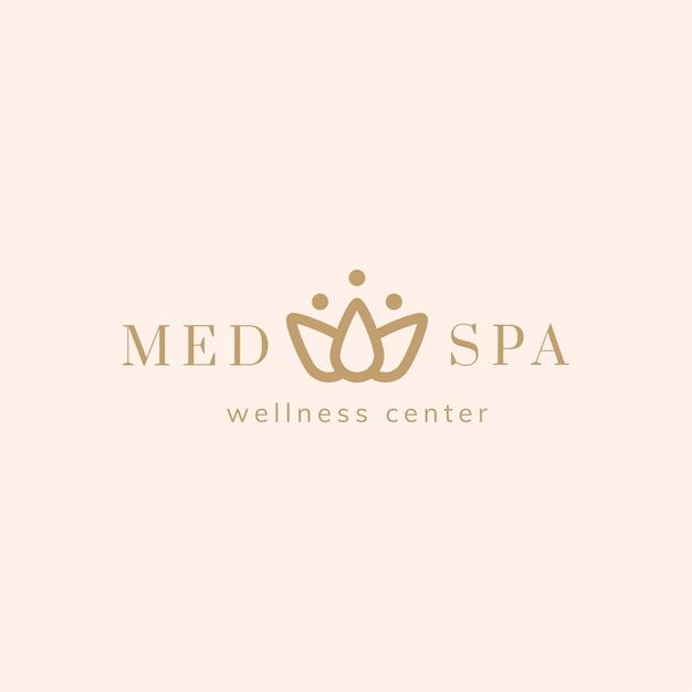 Spa en een wellness-centrum logo vector Gratis Vector