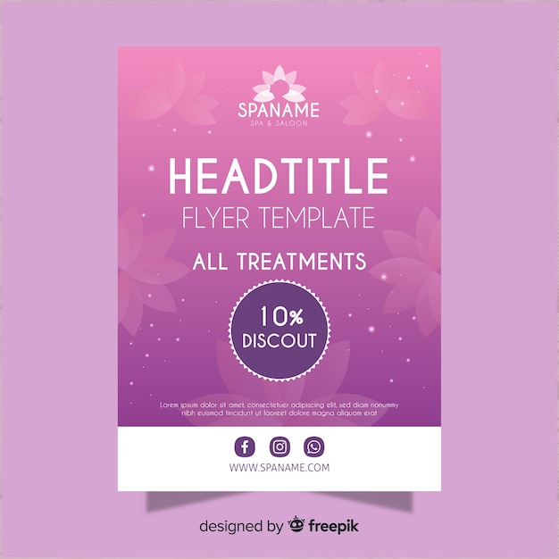 Spa-flyer Gratis Vector