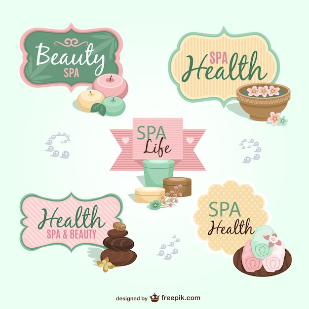 Spa gratis badges vector gratis download - Spa ontwerp ...