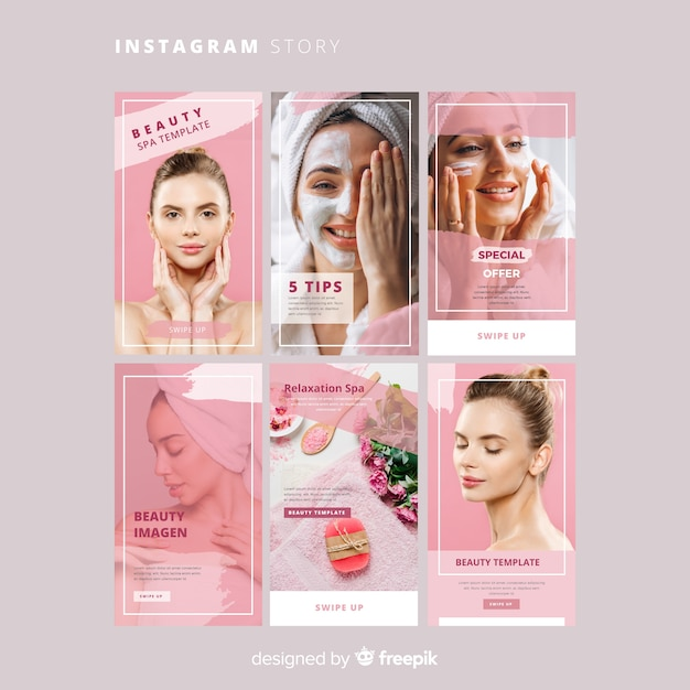 Spa instagram verhalen sjabloon Gratis Vector