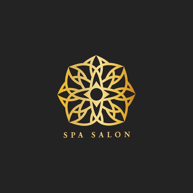 Spa salon ontwerp logo vector Gratis Vector