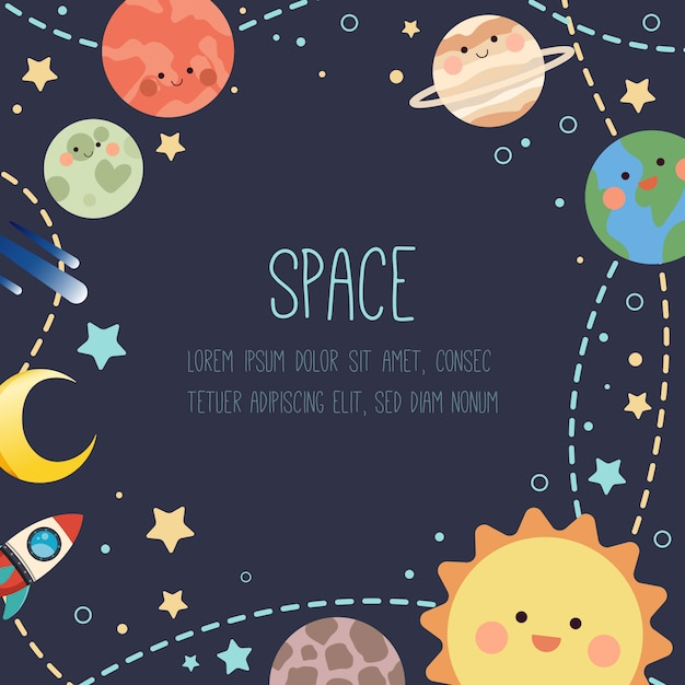 Space achtergrond Premium Vector