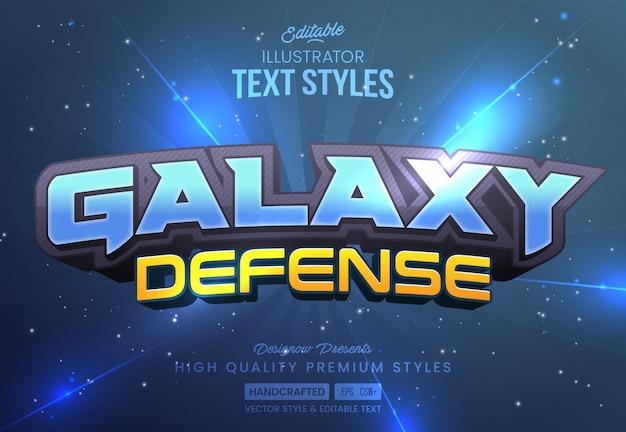 Space galaxy tekststijl Premium Vector