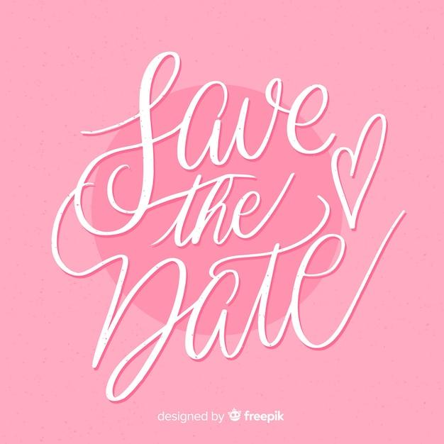 Sparen de datum roze achtergrond Gratis Vector