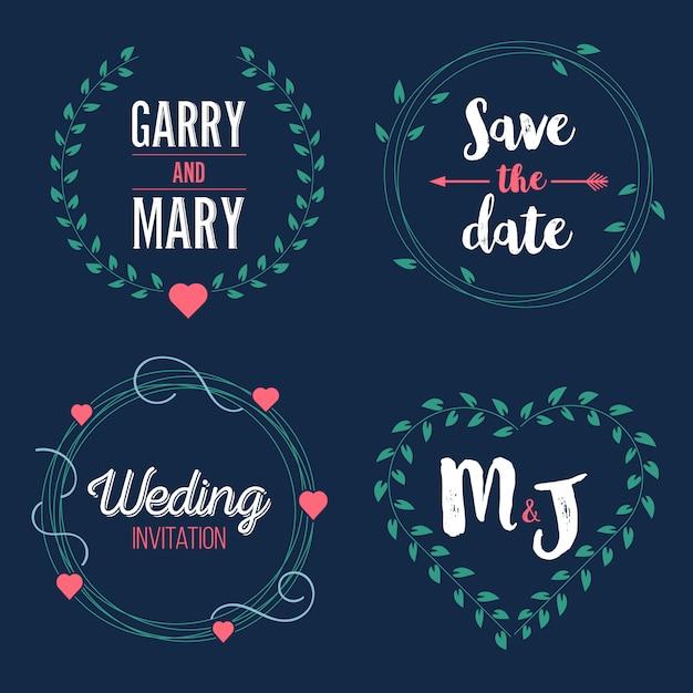 Sparen het datumhuwelijk Premium Vector