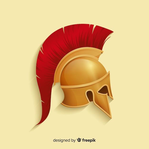 Spartaanse krijgerhelm Gratis Vector