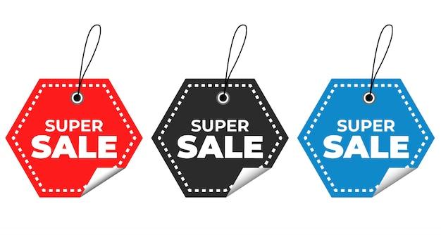 Speciale aanbieding en prijskaartjes Premium Vector