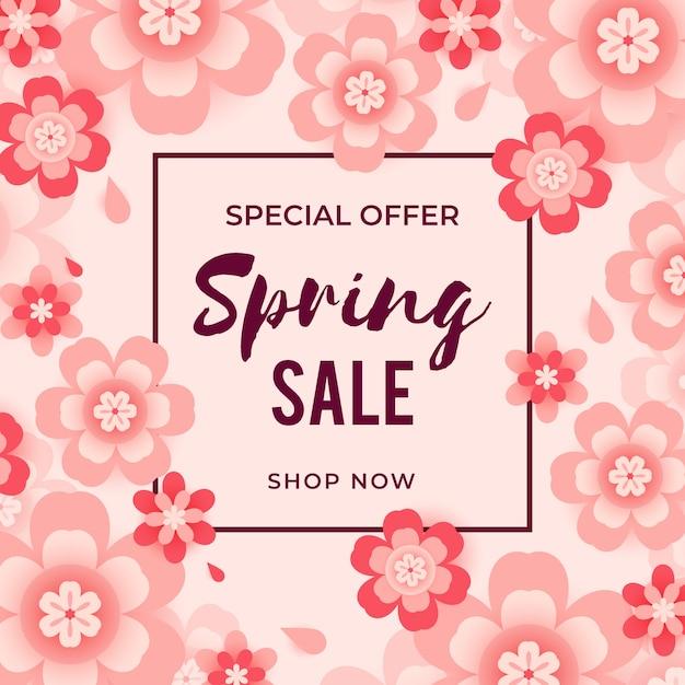 Speciale aanbieding lente verkoop Gratis Vector