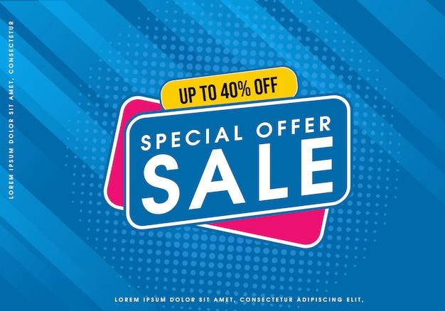 Speciale aanbieding verkoop bubble Premium Vector
