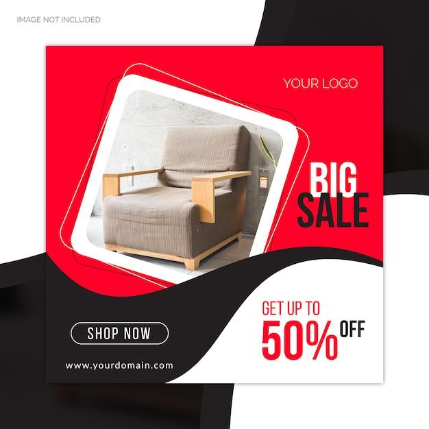 Speciale grote verkoopaanbieding sociale media websjabloon voor spandoek Premium Vector