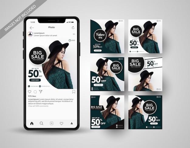 Speciale verkoop social media post collectie instagram Premium Vector