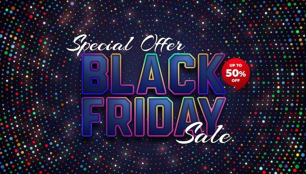 Speciale zwarte vrijdag uitverkoop tot 50% korting Premium Vector