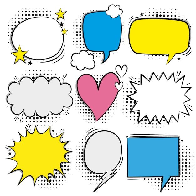 Speech bubble collectie Gratis Vector