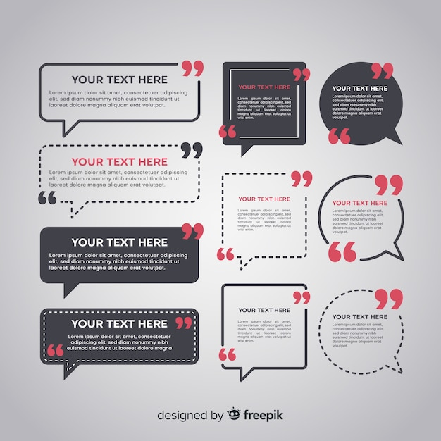 Speech bubble testimonial Gratis Vector