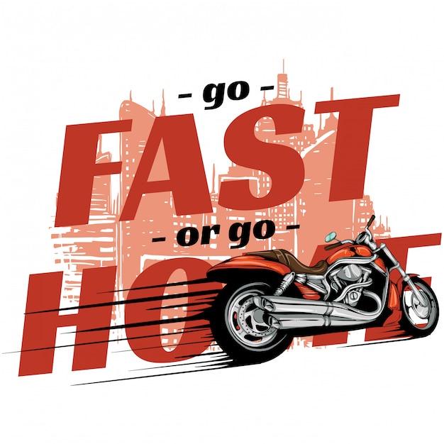 Speed fiets Premium Vector