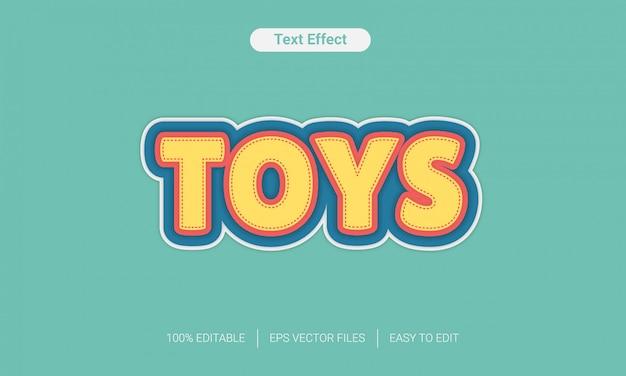 Speelgoed leuk tekststijleffect Premium Vector