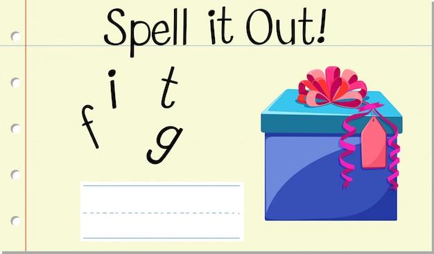 Spel het cadeau Gratis Vector
