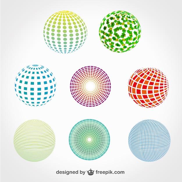 Sphere logo set gratis te downloaden Gratis Vector