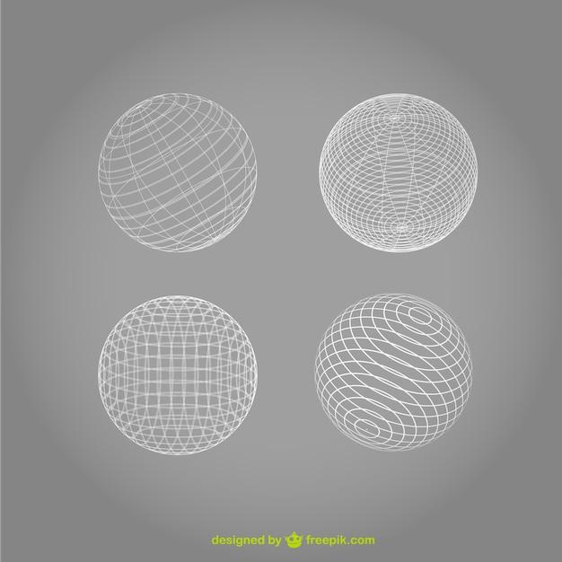 Sphere vector wireframe ontwerp Gratis Vector