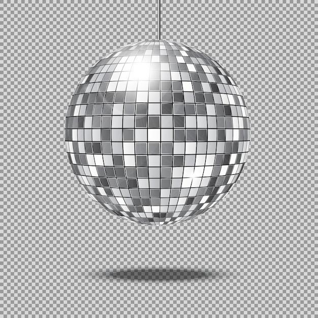 Spiegel glitter disco bal illustratie Premium Vector