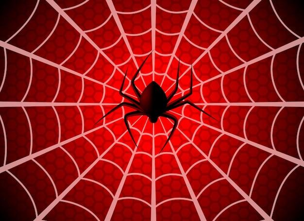 Spinnenweb. spinnenwebval, ragfijn halloween grafisch silhouet. spider man grappige griezelige partij netto textuur, wallpaper spinnenweb patroon sjabloon Premium Vector