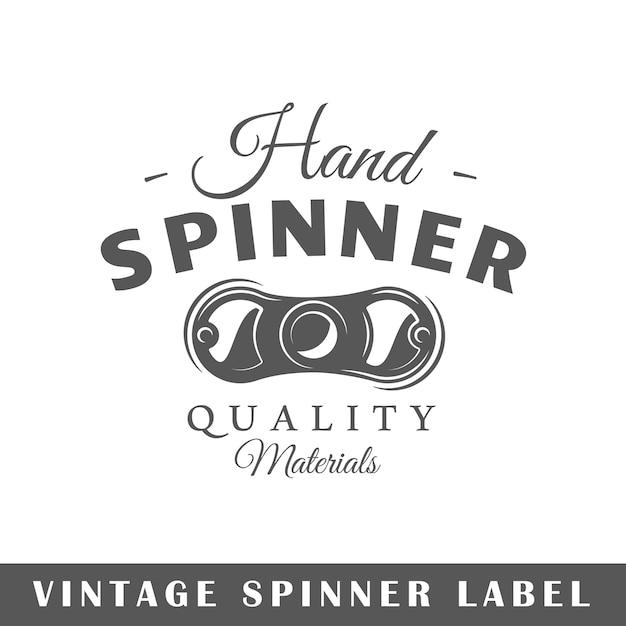 Spinneretiket op witte achtergrond. element. sjabloon voor logo, bewegwijzering, huisstijl. illustratie Premium Vector