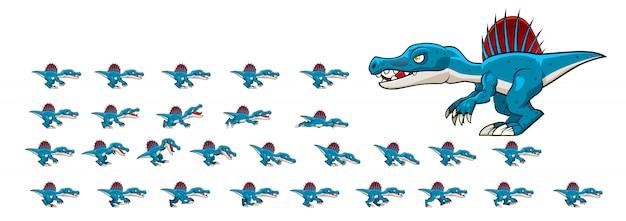 Spinosaurus dier voor spel Premium Vector