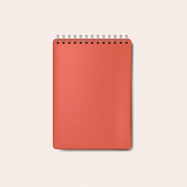 Spiraalvormige rode notitieblokmodel geïsoleerde vector Gratis Vector