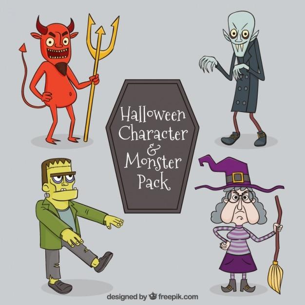 Spooky halloween tekens Gratis Vector