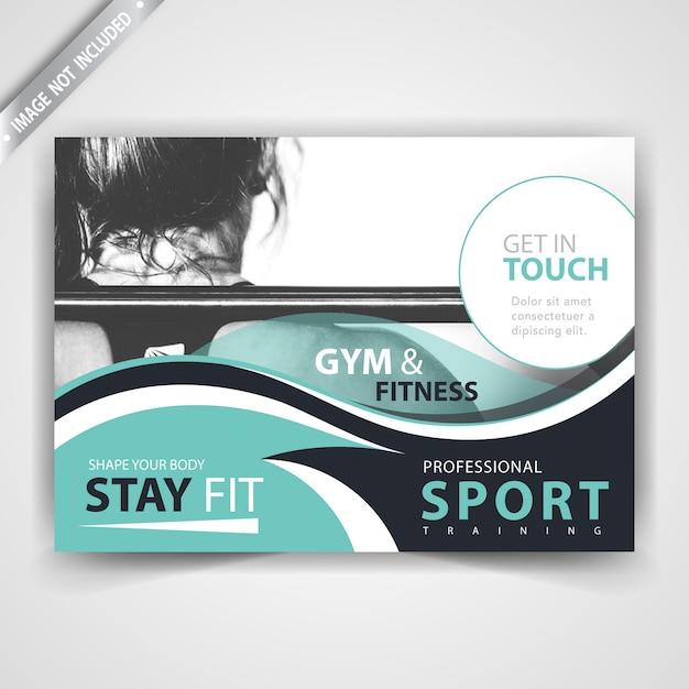 Sport adverteer flyer ontwerp Gratis Vector