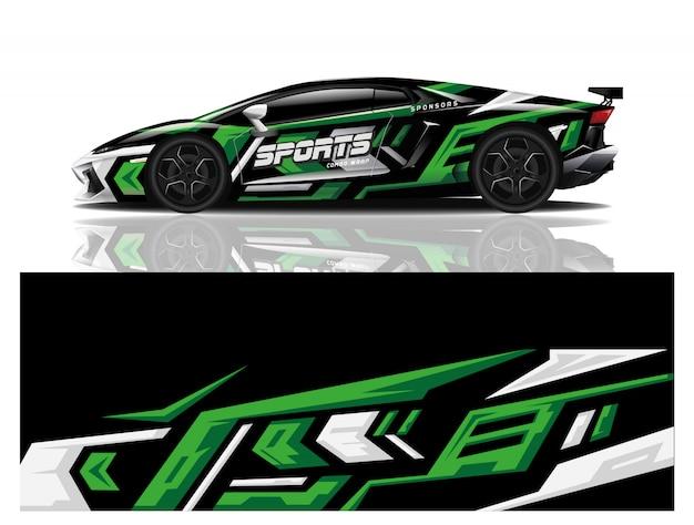 Sport auto sticker wrap ontwerp vector Premium Vector