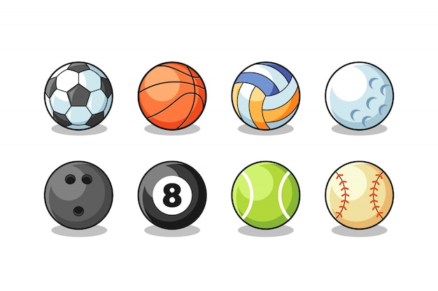 Sport ballen collectie vector Premium Vector