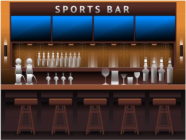 Sport bar achtergrond Premium Vector