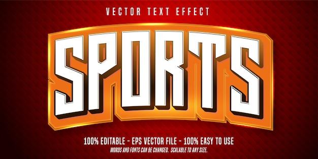 Sport bewerkbaar teksteffect Premium Vector