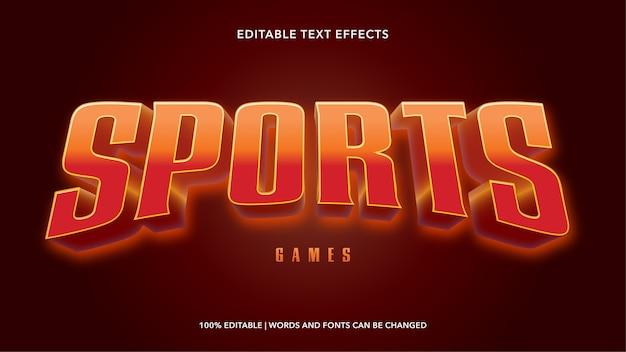 Sport bewerkbare teksteffecten Premium Vector