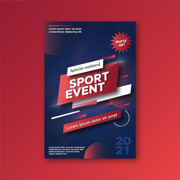 Sport evenement poster sjabloon Gratis Vector
