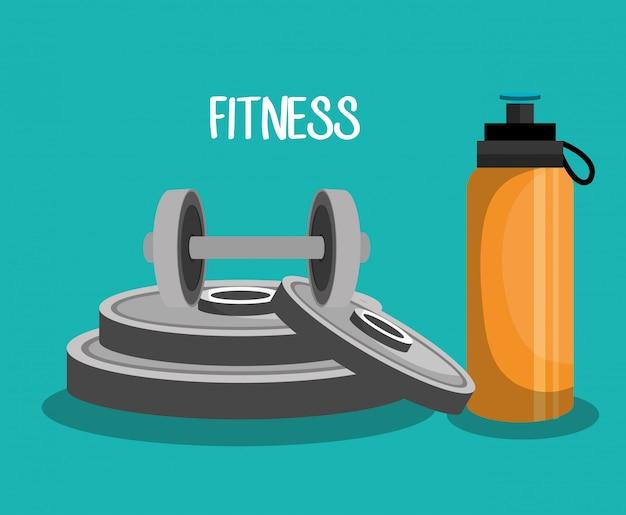 Sport fitness illustratie Gratis Vector