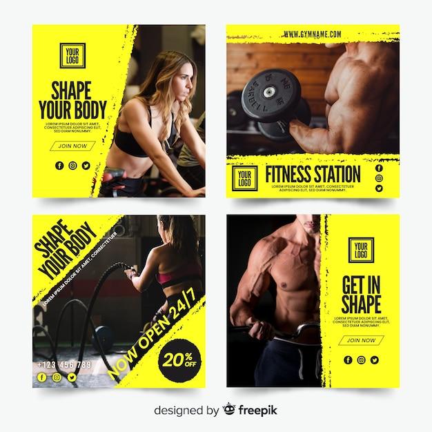 Sport flyer collectie Gratis Vector