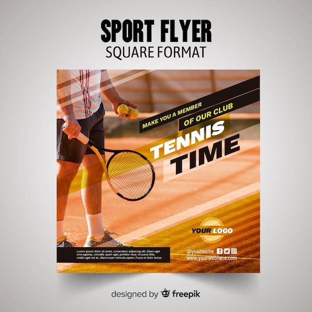Sport flyer sjabloon Gratis Vector