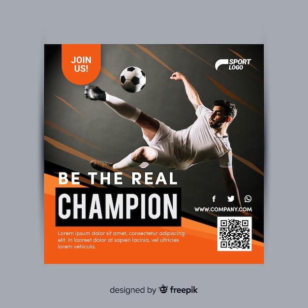 Sport flyer Gratis Vector