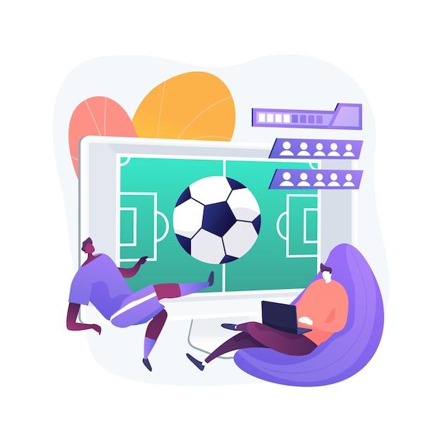 Sport games abstract concept illustratie Gratis Vector