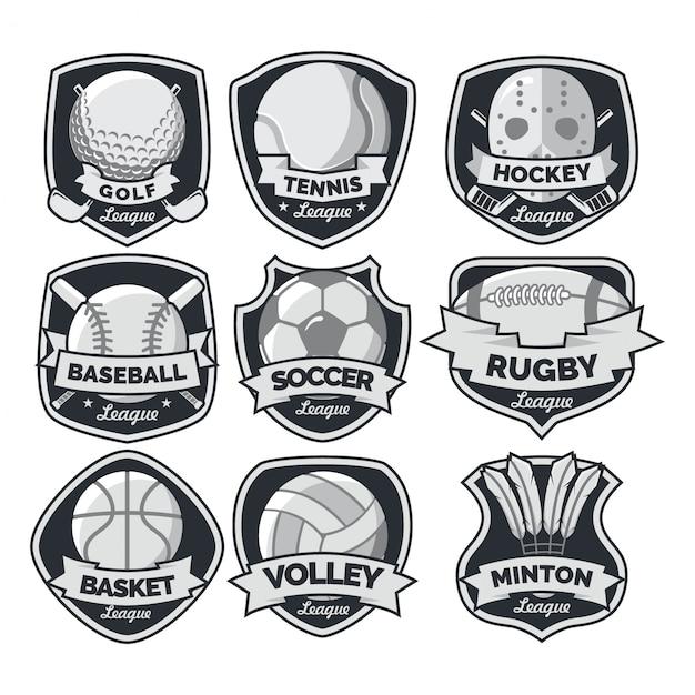 Sport internationale logo vector Premium Vector