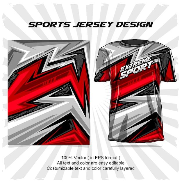 Sport jersey ontwerp, extreme sport abstract ontwerp Premium Vector